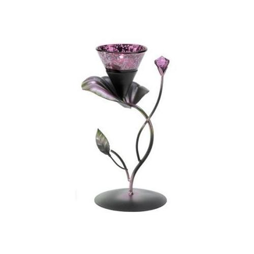 Lilac Lily Pad Tealight Holder (pack of 1 EA)