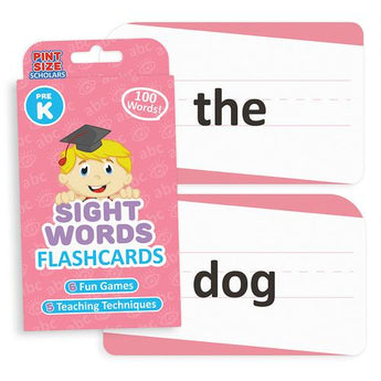 Sight Words Flashcards, Pre-K