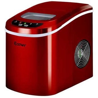 Mini Portable Compact Electric Ice Maker Machine-Red - Color: Red