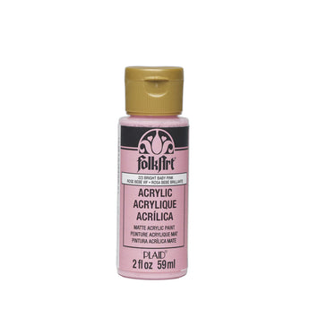 Plaid Folkart Acrylic Paint In Assorted Colors (2 Oz)Bright Baby Pink