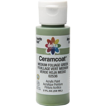 Plaid Delta Creative Ceramcoat Acrylic Paint In Assorted Colors (2 Oz)Med Foliage Green