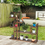 7-Tier Flower Wood Stand Plant Display Rack Storage Shelf - www.myhomeandgardendecor.com
