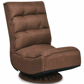 5-Position Folding Floor Gaming Chair-Coffee - Color: Coffee - www.myhomeandgardendecor.com