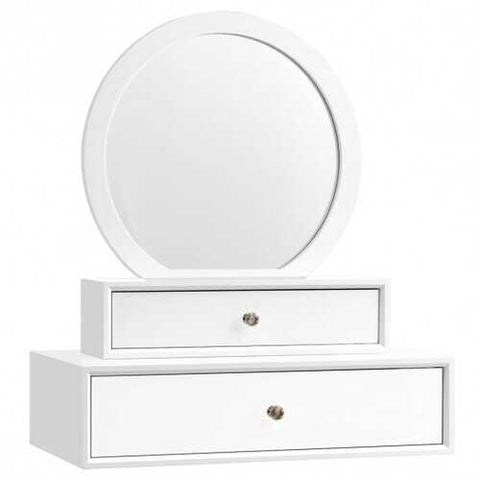 Makeup Dressing Wall Mounted Vanity Mirror with 2 Drawer - www.myhomeandgardendecor.com