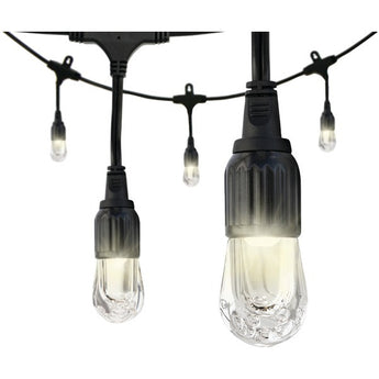 Enbrighten 31660 Classic LED Cafe Lights (12ft; 6 Acrylic Bulbs) - www.myhomeandgardendecor.com