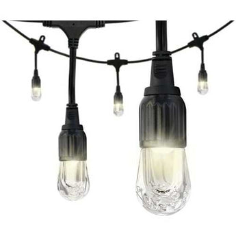 Enbrighten 33307 Classic LED Cafe Lights (18ft; 9 Acrylic Bulbs) - www.myhomeandgardendecor.com
