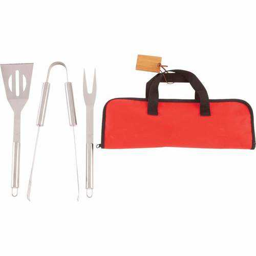 4pc Stainless Steel Barbeque Tool Set - www.myhomeandgardendecor.com