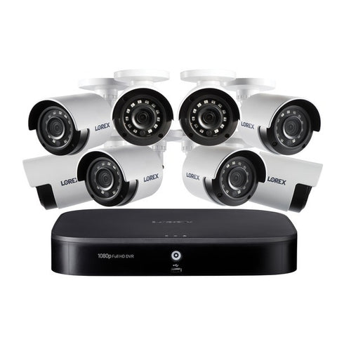 Lorex DP181-82NAE 1080p Full HD 8-Channel Security System with 1 TB DVR and Eight 1080p Night Vision Bullet Cameras with Smart Home Voice Control