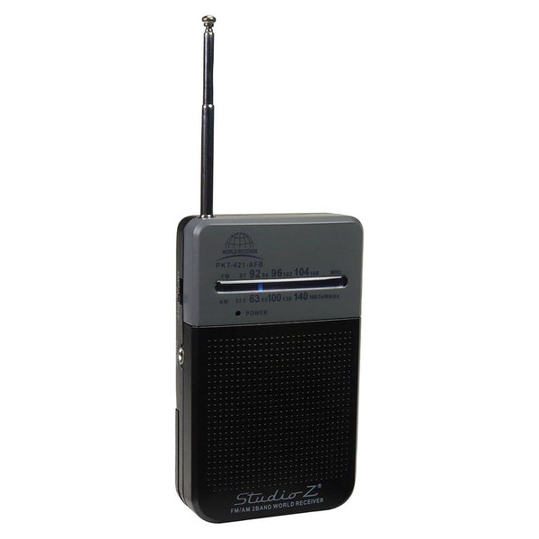 Studio Z AM/FM 2 Band World Pocket Radio - www.myhomeandgardendecor.com