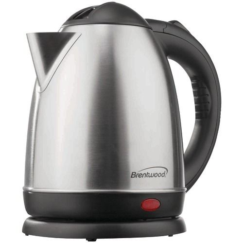 Brentwood 1.5-liter Stainless Steel Electric Cordless Tea Kettle (brushed Stainless Steel) (pack of 1 Ea) - www.myhomeandgardendecor.com