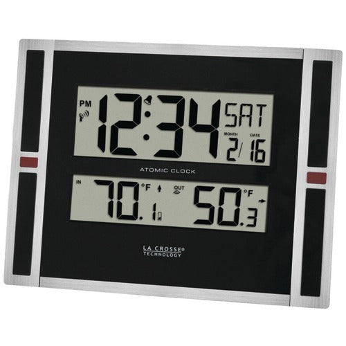 La Crosse Technology Indoor And Outdoor Thermometer & Atomic Clock (pack of 1 Ea)
