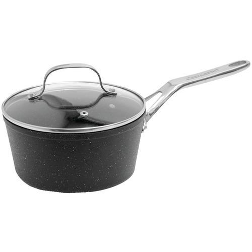 The Rock By Starfrit The Rock By Starfrit Saucepan With Glass Lid & Stainless Steel Handles (2-quart) (pack of 1 Ea)