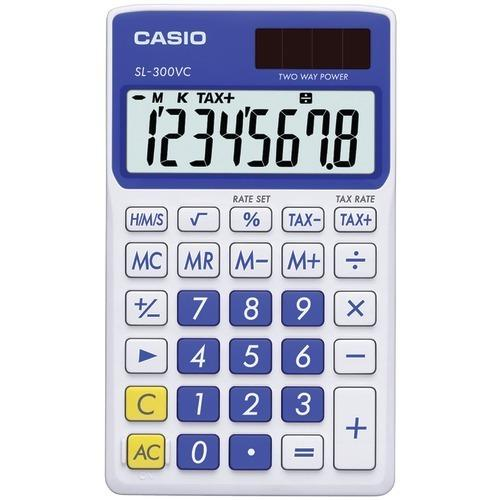 Casio Solar Wallet Calculator With 8-digit Display (blue) (pack of 1 Ea) - www.myhomeandgardendecor.com