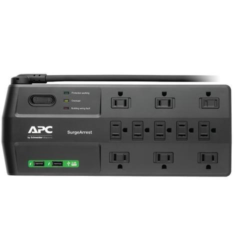 Apc 11-outlet Surgearrest Surge Protector With 2 Usb Charging Ports (pack of 1 Ea) - www.myhomeandgardendecor.com