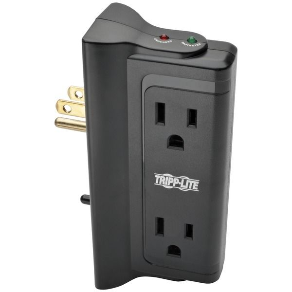 Tripp Lite Protect It! Surge Protector With 4 Side-mounted Outlets (pack of 1 Ea) - www.myhomeandgardendecor.com