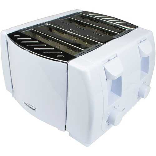 Brentwood Appliances Cool Touch 4-slice Toaster (white) (pack of 1 Ea) - www.myhomeandgardendecor.com