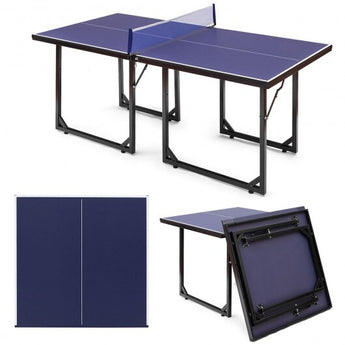 Multi-Use Foldable Midsize Removable Compact Ping-pong Table - www.myhomeandgardendecor.com