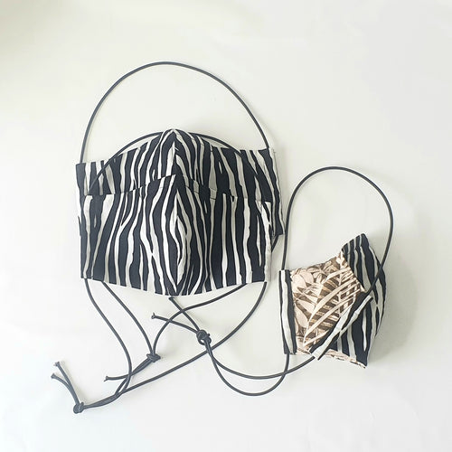 ZEBRA STRIPES FACE MASK