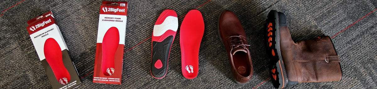 Big Insoles - Fit up to Size 19 - 2BigFeet