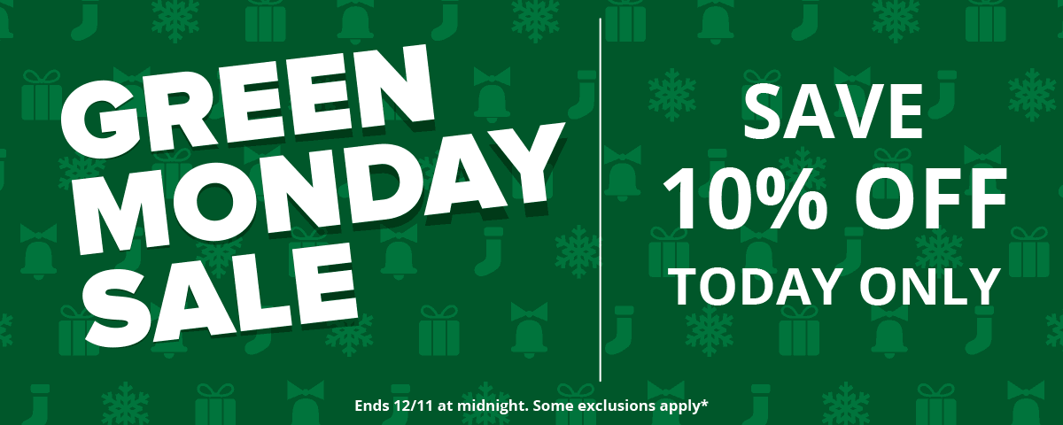Green Monday - Save 10% Off Today Only