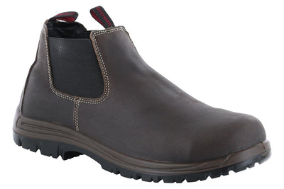 Avenger Foreman Composite Toe Slip On Boot Brown