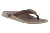 Columbia PFG Rostra II Leather Flip Flop Brown