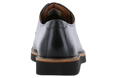 Dunham Clyde Plain Toe Oxford Black