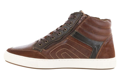 Propet Kenton High Top Casual Sneaker Brown