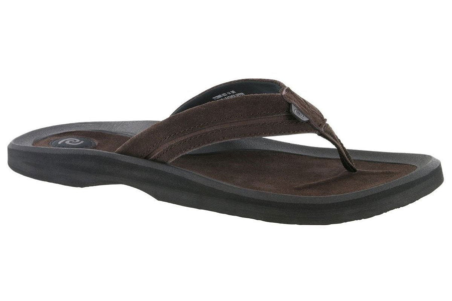 bdb6abda9e112c Rafters Tsunami Leather Flip Flop Chocolate