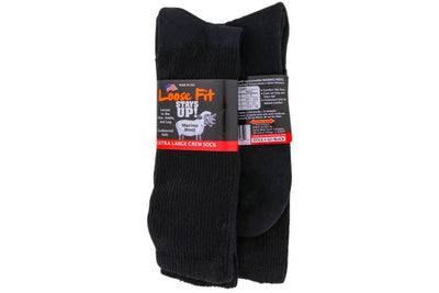 Socks Loose Fit Wool Crew Black