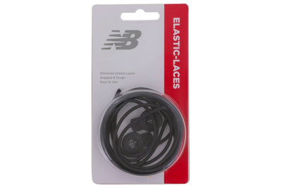 Ten Seconds NB Elastic Black Shoelace