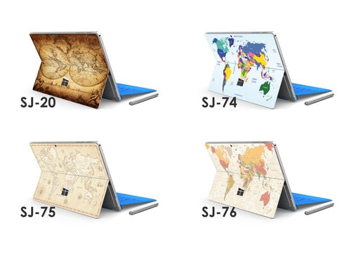 Maps Microsoft Surface Pro 3 4 Decal Skin Sticker
