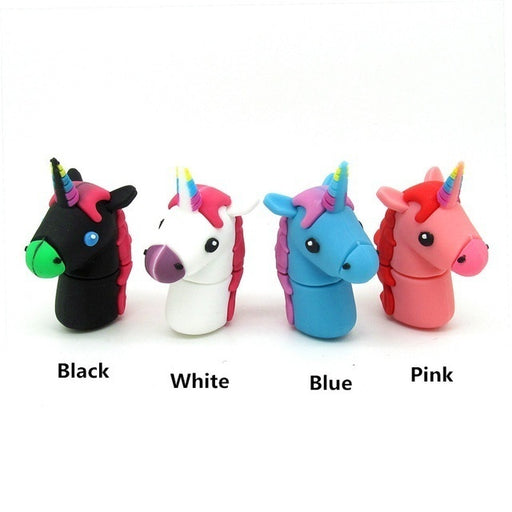 Cartoon Unicorn Horse Usb Flash Drive Disk 128GB Cute Memory Stick Pen Drive Personalized Gift Pendrive