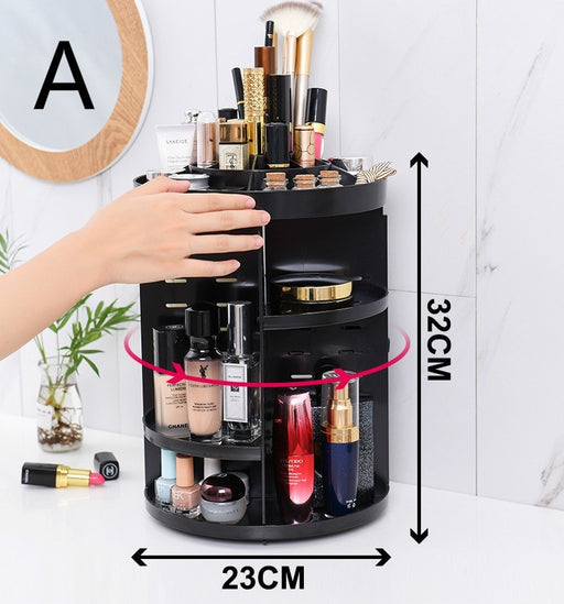 Beauty Box and Mirror Simple 360° Rotating Lipstick Makeup Holder and Organizer