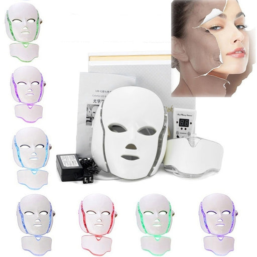 Face Beauty Therapy Microelectronics LED Photon Wrinkle and Acne Removal Mask  Anti-aging Skin Rejuvenation