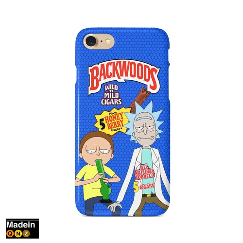 Rick and Morty Backwoods Cigar Phone Case