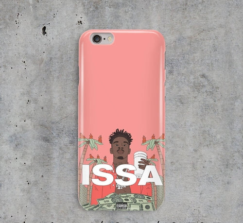 21 Savage Issa Album Cover BANK iPhone Case
