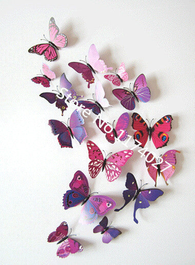 TechKara 3D Butterfly Wall Stickers 12 Pcs