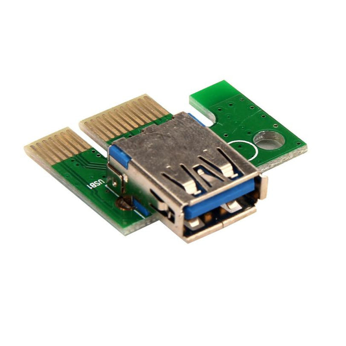 TechKara PCI-E Express 1X To 16X Extender Riser Adapter Card With USB 3.0 data Cable