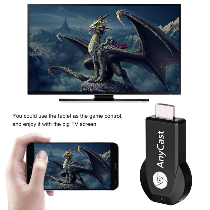 TechKara HDMI Receiver TV Stick Anycast 1080 Full HD for Iphone and Android