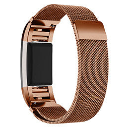 TechKara Magnetic Lock Strap Fabulous Stainless Steel Metal Wrist Band Strap for Fitbit Charge 2