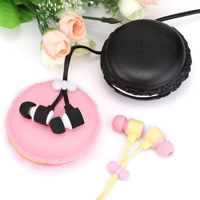 TechKara Wired In Ear Earbud with Cute Macaron