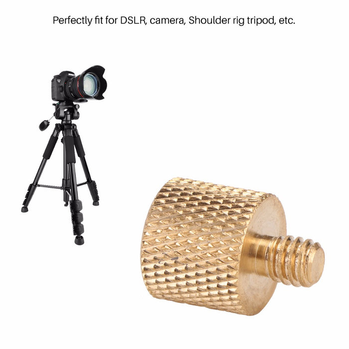 "TechKara 3/8""-16 Female to 1/4""-20 Male Adapter For DSLR Camera Shoulder Rig Tripod"