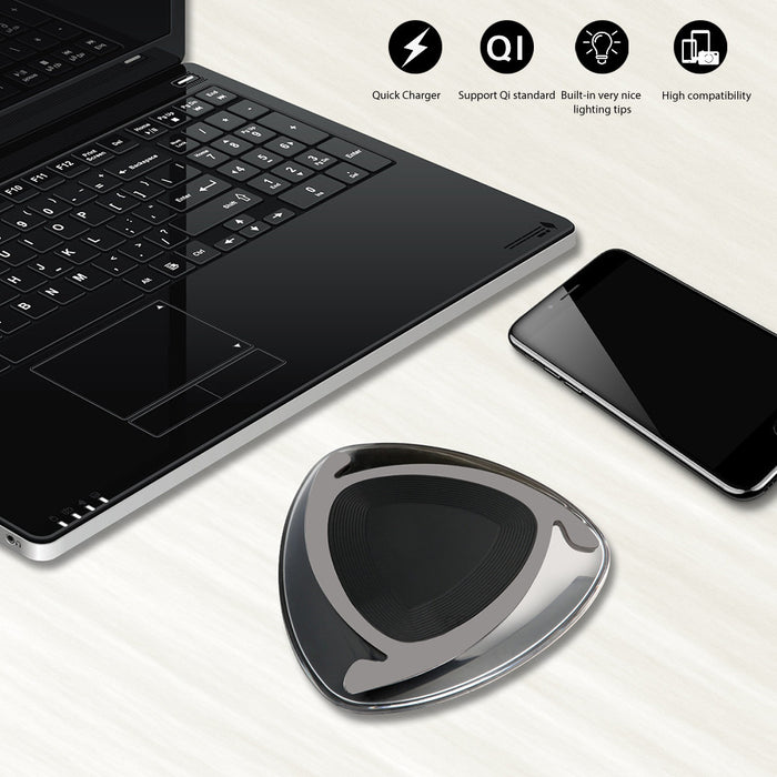 TechKara Wireless Charging Pad With Light Indicator