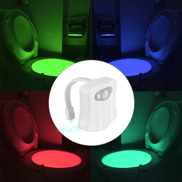 TechKara Portable Toilet Light LED Motion Sensor UV-C Light Disinfection for Bathroom