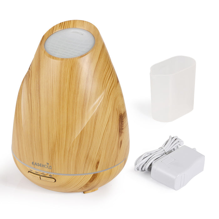400ml Essential Oil Diffuser Wood Grain Ultrasonic Cool Mist Humidifier