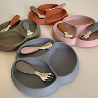 Kids suction plate + cutlery set