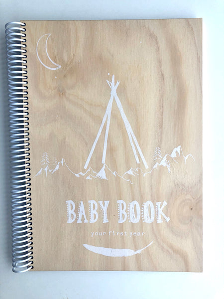 Wooden cover baby books