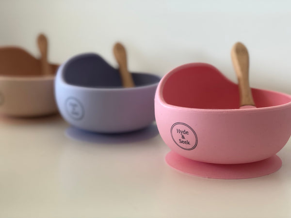 Pastel Silicone Bowl Set