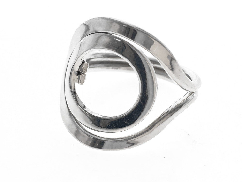 Circle Eclipse Sterling Silver Ring - Essentially Silver Jewelry